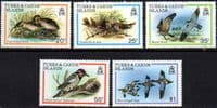Turks and Caicos Island 1980 Birds Set Fine Mint