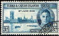 Turks and Caicos Islands 1946 King George VI Victory SG207 Fine Used