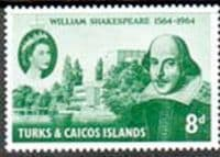 Turks and Caicos Islands 1964 William Shakespeare Fine Mint