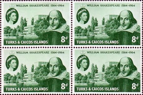 Turks and Caicos Islands 1964 William Shakespeare Stamps