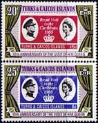 Turks and Caicos Islands 1976 Royal Visit Anniversary Set Fine Mint