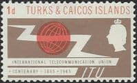 Turks Caicos Islands 1966 International Telecomunication Union SG 258 Fine Mint