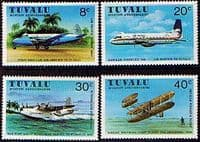 Tuvalu 1980 Aviation Commemorations Set Fine Mint