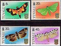 Tuvalu 1980 Moths Set Fine Mint