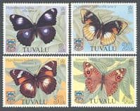 Tuvalu 1981 Butterflies Set Fine Mint