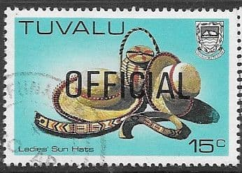 Tuvalu 1983 Handicrafts OFFICIAL SG O22 Fine Used