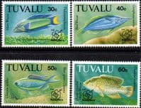 Tuvalu 1992 Fish Philex Set Fine Mint