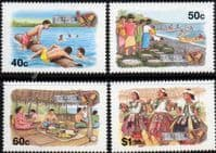 Tuvalu 1994 Christmas Local Customs Set Fine Mint
