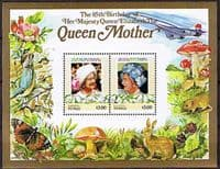 Tuvalu Nukufetau 1985 Queen Mother Life and Times Miniature Sheet $3 Fine Mint