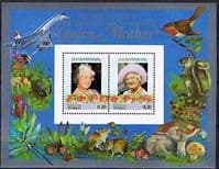 Tuvalu Nukulaelae 1985 Queen Mother Life and Times Miniature Sheet $1.20 Fine Mint
