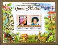 Tuvalu Nukulaelae 1985 Queen Mother Life and Times Miniature Sheet $3.50 Fine Mint