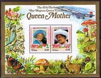 Tuvalu Vaitupu 1985 Queen Mother Life and Times Miniature Sheet $2.50 Fine Mint
