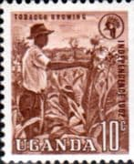 Uganda 1962 Independence SG 100a Coil Stamps Fine Mint