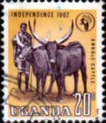 Uganda 1962 Independence SG 102 Fine Used