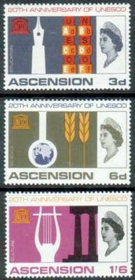 Ascension Islands Stamps UNESCO 1966