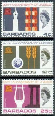 Barbados Stamps UNESCO 1966