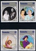 Vanuatu 1985 Queen Mother Life and Times Set Fine Mint