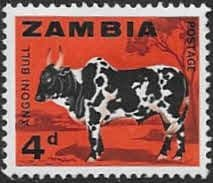 Postage stamps of Zambia 1964 Industries SG 97 Fine Mint Scott 7