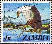 Zambia 1975 SG 229 African Fish Eagle Fine Used