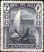 Zanzibar 1913 Sailing Canoe SG 256 Good Mint