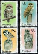 Zimbabwe 1987 Owls Set Fine Mint